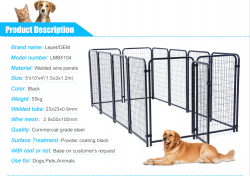 Dog kennel welded panels
