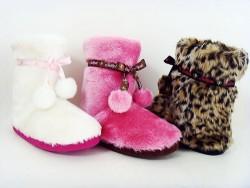 Ladies plush indoor boot