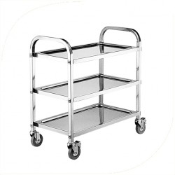 3 Tiers Assembled Dining Cart