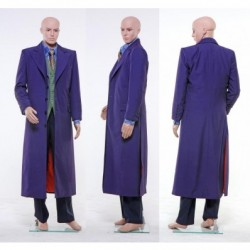 Dark Knight Joker Cosplay Costume Gabardine Trench Coat Version is offered at alicestyless.com