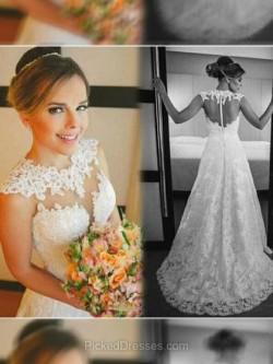 Buy Lace Wedding Dresses Canada, Wedding Dress Cheap | Pickeddresses