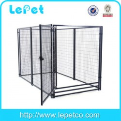 large outdoor metal welded wire dog kennel