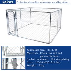 large welded wire dog kennel /chain link dog kennel/dog cage/dog run manufacturer wholesale supplier
