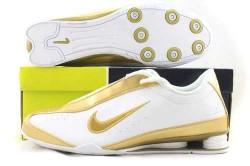 Men's Nike Shox R3 Shoes White/Gold U0LAA2,Shox,Jordans For Sale,Jordans For Cheap,Nike Ai ...