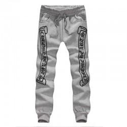 Cheap Gray Chrome Hearts Letters Printed Cotton Pants [Chrome Hearts Pants] – $165.00 : Ch ...