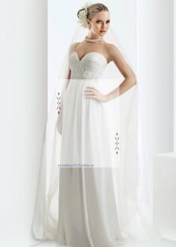 2015 White Bari Jay 2008 Strapless Ruched Chiffon Prom Bridesmaid Gown – Bari Jay Prom Dress