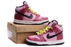 Women's Nike Dunk High Shoes Light Pink/Black/Red J3B447,Dunk,Jordans For Sale,Jordans For ...