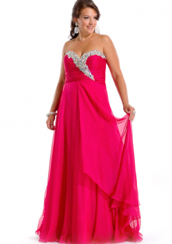 US$155.99 2015 Fuchsia Chiffon Green Lace Up Crystals Ruched Floor Length Sweetheart Sleeveless
