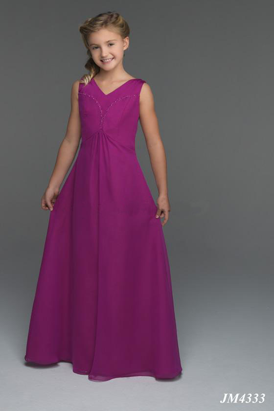 US$95.99 2015 Lace Up Chiffon V-neck Ruched Purple Sleeveless Floor Length