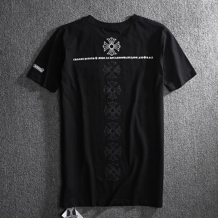 Chrome Hearts A Row Signature Crosses Back Printed Black T Shirt [Chrome Hearts T Shirt] – ...