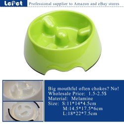 Slow feed dog bowl melamine pet feeder dog bowl manufacturer wholesale
