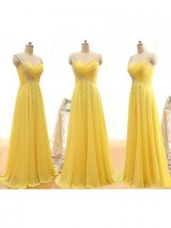 Cream Yellow and Lemon Bridesmaid Dresses UK at Dressfashion.co.uk