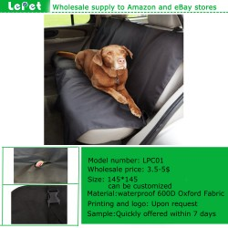 manufacturer wholesale waterproof oxford protective dog car seat cover
