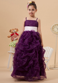 US$110.99 2015 Tulle Spaghetti Straps Zipper Ribbon Regency Sleeveless Ruffled Floor Length