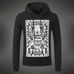 Dsquared2 Men DS01 Fighters Print Sweatshirt Black