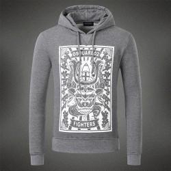 Dsquared2 Men DS01 Fighters Print Sweatshirt Grey