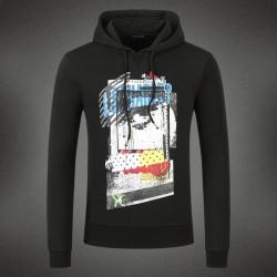 Dsquared2 Men DS10 Graffiti Print Sweatshirt Black