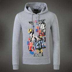 Dsquared2 Men DS14 Graffiti Print Sweatshirt Grey