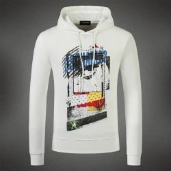 Dsquared2 Men DS10 Graffiti Print Sweatshirt White