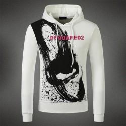 Dsquared2 Men DS02 Graffiti Print Sweatshirt White