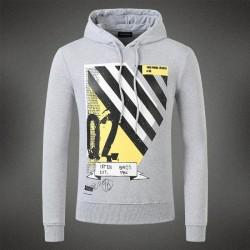 Dsquared2 Men DS08 Q2 Stripes Sweatshirt Grey