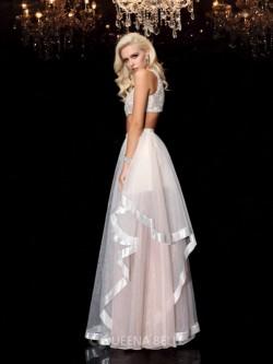 A-Line/Princess Scoop Applique Sleeveless Floor-Length Organza Dresses – Prom Dresses 2017 ...