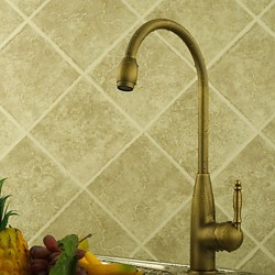 Centerset Antique Brass Kitchen Faucet – Faucetsmall.com