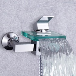 New Arrival Single Handle Glass Waterfall Cold and Hot Shower Faucet – FaucetSuperDeal.com