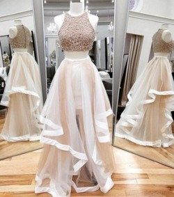 Amazing two piece prom dresses are only here at DressesofGirl.