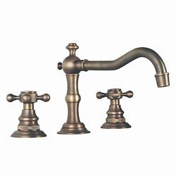 Antique Brass Finish Widespread Bathroom Sink Faucet– FaucetSuperDeal.com
