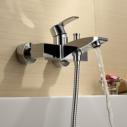 Chrome Finish Single Handle Wall Mount Bathtub Faucet – FaucetSuperDeal.com