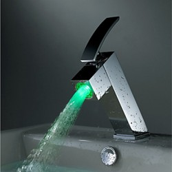 Classic Color Changing LED Waterfall Bathroom Sink Faucet – FaucetSuperDeal.com
