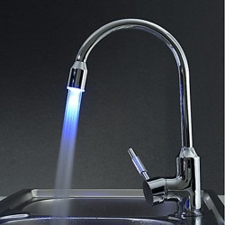 Contemporary Brass Kitchen Faucet with Color Changing LED Light – FaucetSuperDeal.com