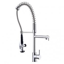 Contemporary Solid Brass Spring Kitchen Faucet– FaucetSuperDeal.com