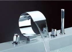 Five-Installation Hole Waterfall Bathtub Faucet ( Chrome Finish ) – FaucetSuperDeal.com