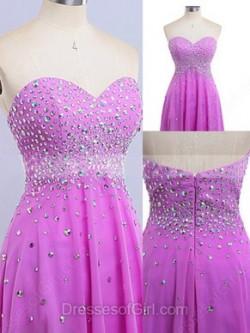 Prom High Low Dresses, Asymmetric Prom Dress