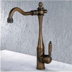 Antique Brass Single Handle Centerset Kitchen Faucet – FaucetSuperDeal.com