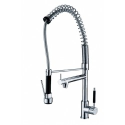 Chrome Brass Rotatable Mixer Pull-out Kitchen Faucet – FaucetSuperDeal.com