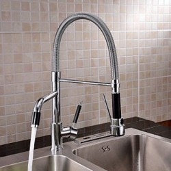 Contemporary Chrome Finish Rotatable Tall Kitchen Faucet – Faucetsmall.com