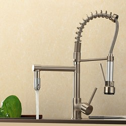 Contemporary High-Pressure Nickle Brushed Kitchen Faucet – FaucetSuperDeal.com