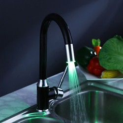 Painting Finish Kitchen Faucet with Color Changing LED Light– FaucetSuperDeal.com