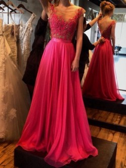 Red Prom Dresses Canada | Red Prom Dresses with Sleeves | Pickedresses