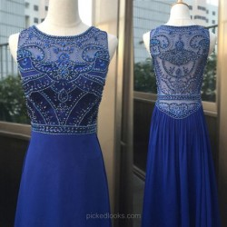 Shop Chiffon Tulle Scoop Neck Watteau Train Sheath/Column with Beading Ball Dresses in New Zealand