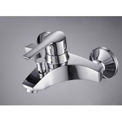 Single Handle Chrome Wall-mount Bathtub Faucet – FaucetSuperDeal.com