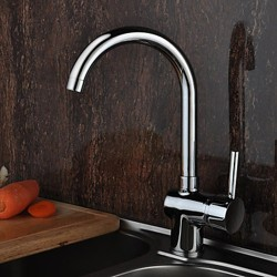 Solid Brass Deck Mounted Kitchen Faucet – Chrome Finish – Faucetsmall.com