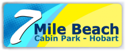 Hobart Caravan Cabin Park: Welcome to seven mile beach