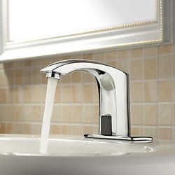 4 Inch Brass Bathroom Sink Faucet with Automatic Sensor (Cold) – FaucetSuperDeal.com