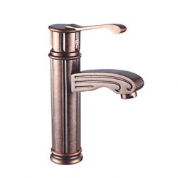 Antique Traditional Brass Copper Bathroom Sink FaucetsAt FaucetsDeal.com