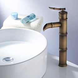 Antique Brass Finish Bathroom Sink Faucet – Bamboo Shape Design – Faucetsmall.com