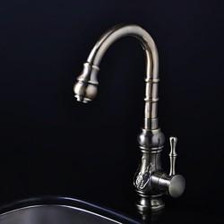 Antique Inspired Kitchen Faucet – Antique Bronze Finish – FaucetSuperDeal.com